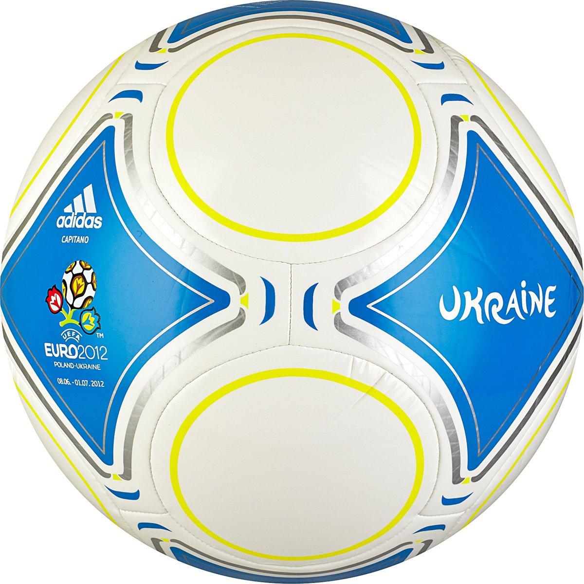 adidas Ucrania 2012 Capitano Balón de fútbol, Color Blanco ...