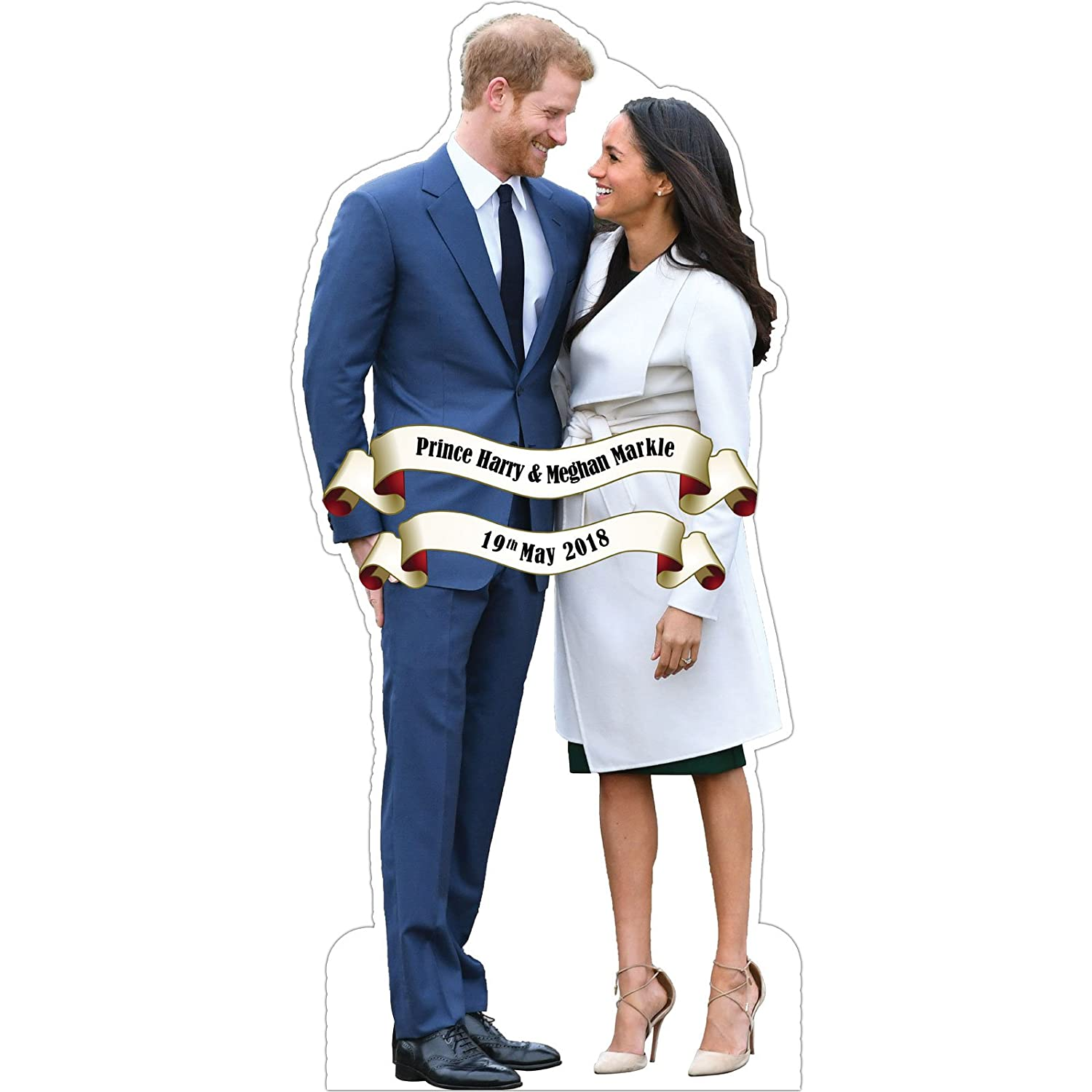 Royal Wedding Prince Harry And Meghan Markle Life Size Commemorative Cardboard Cutout Party Showroom