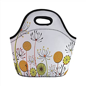 Bolsa de almuerzo de neopreno, Floral, Umbelifers Flor ...