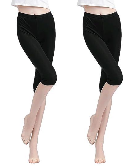 Legging Capri Short Vinconie Femme 34 Court Leggings Shorts Sous Jupe ARjL354q