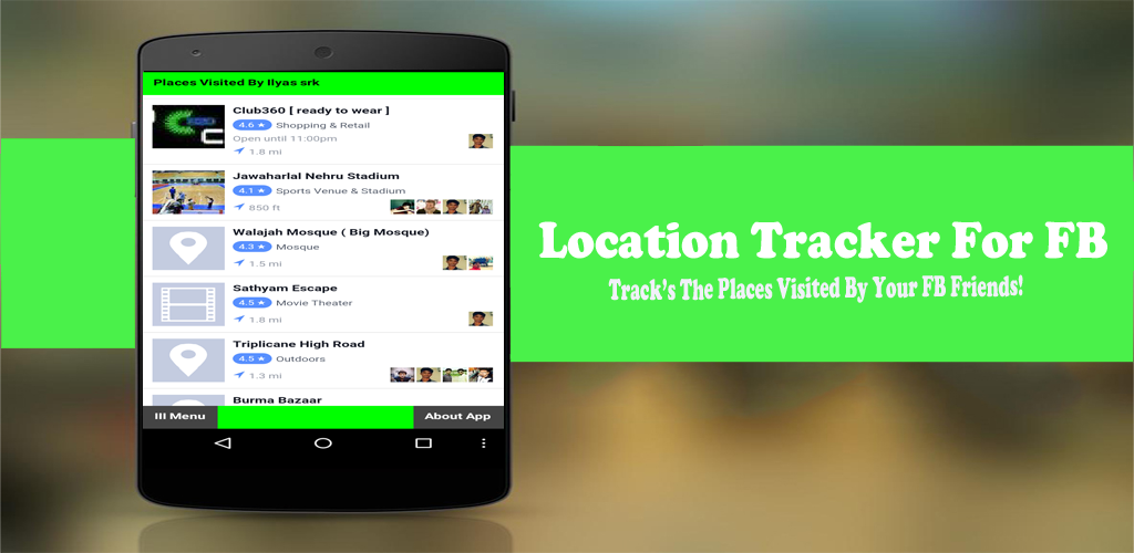 Amazon com: Location Tracker For FB: Appstore for Android