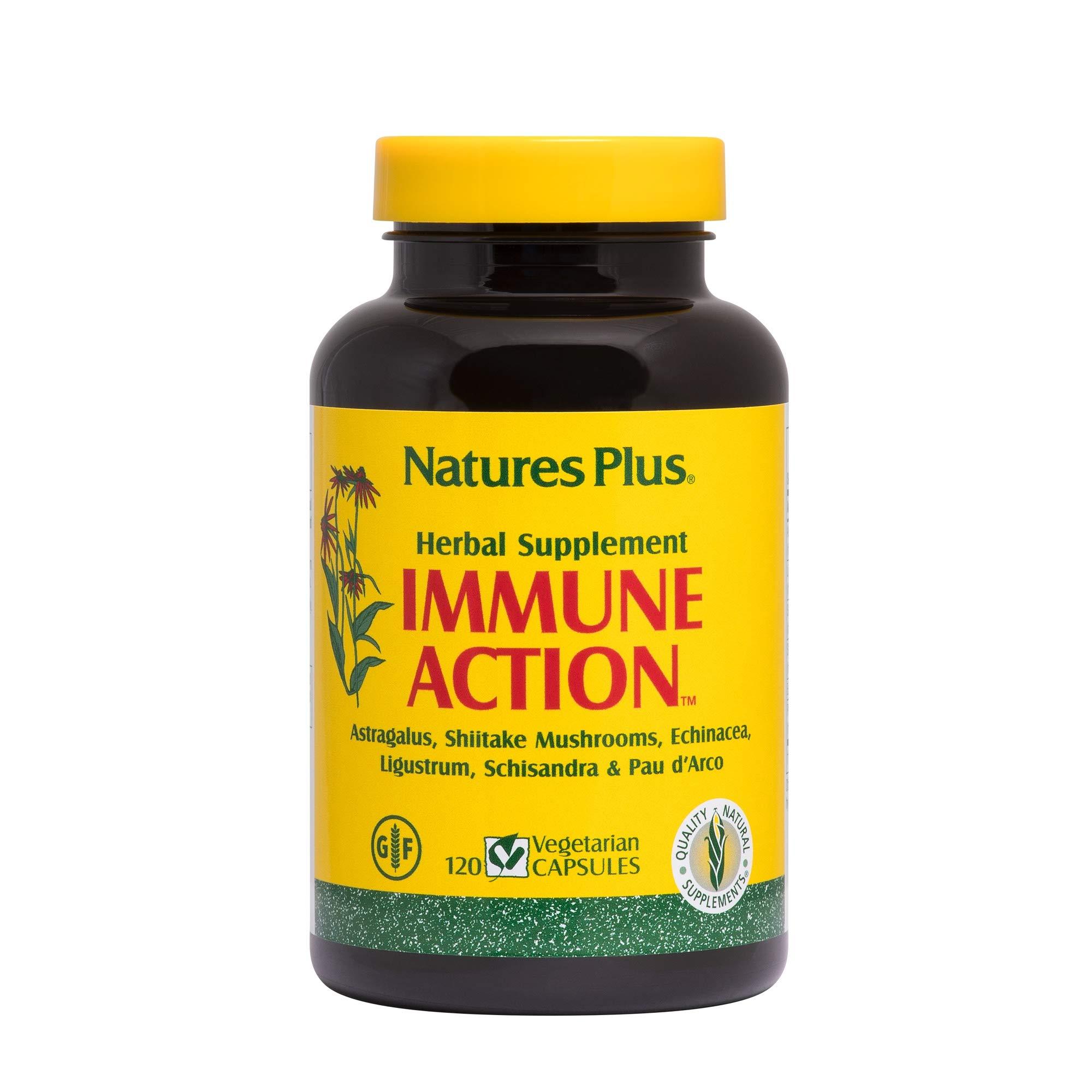 NaturesPlus Immune Action - 120 Vegetarian Capsules - Powerful Ancient Herbal Blend - Immune System Support Supplement - Vegan, Gluten-Free - 120 Servings