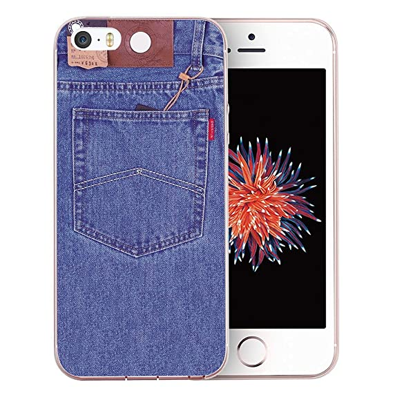 brand new c3652 81e0c iPhone SE Case, iPhone 5S Case, iPhone 5 Case, Doramifer Illustration  Series Protective Case [Anti-Slip] [Good Grip] with Aesthetic 3D Print Soft  Back ...