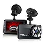 #LightningDeal Dash Cam, Amuoc 1080P FHD Dvr Car Driving Recorder 3 Inch LCD Screen 170° Wide Angle, G-Sensor, Wdr, Parking Monitor, Loop Recording, Motion Detection