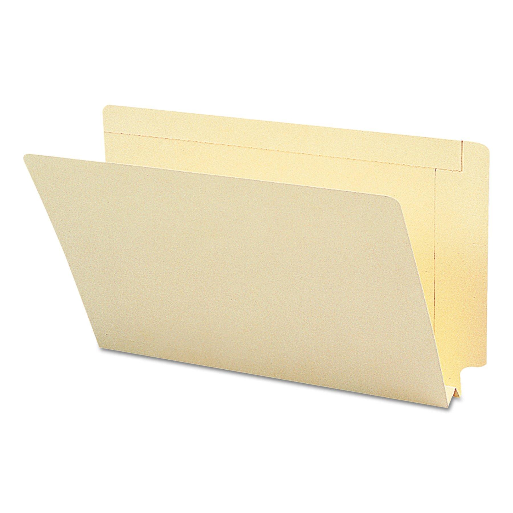 Smead End Tab Heavyweight File Folder, Reinforced Straight-Cut Tab, 1-1/2'' Expansion, Legal Size, Manila, 50 per Box (27275) by Smead