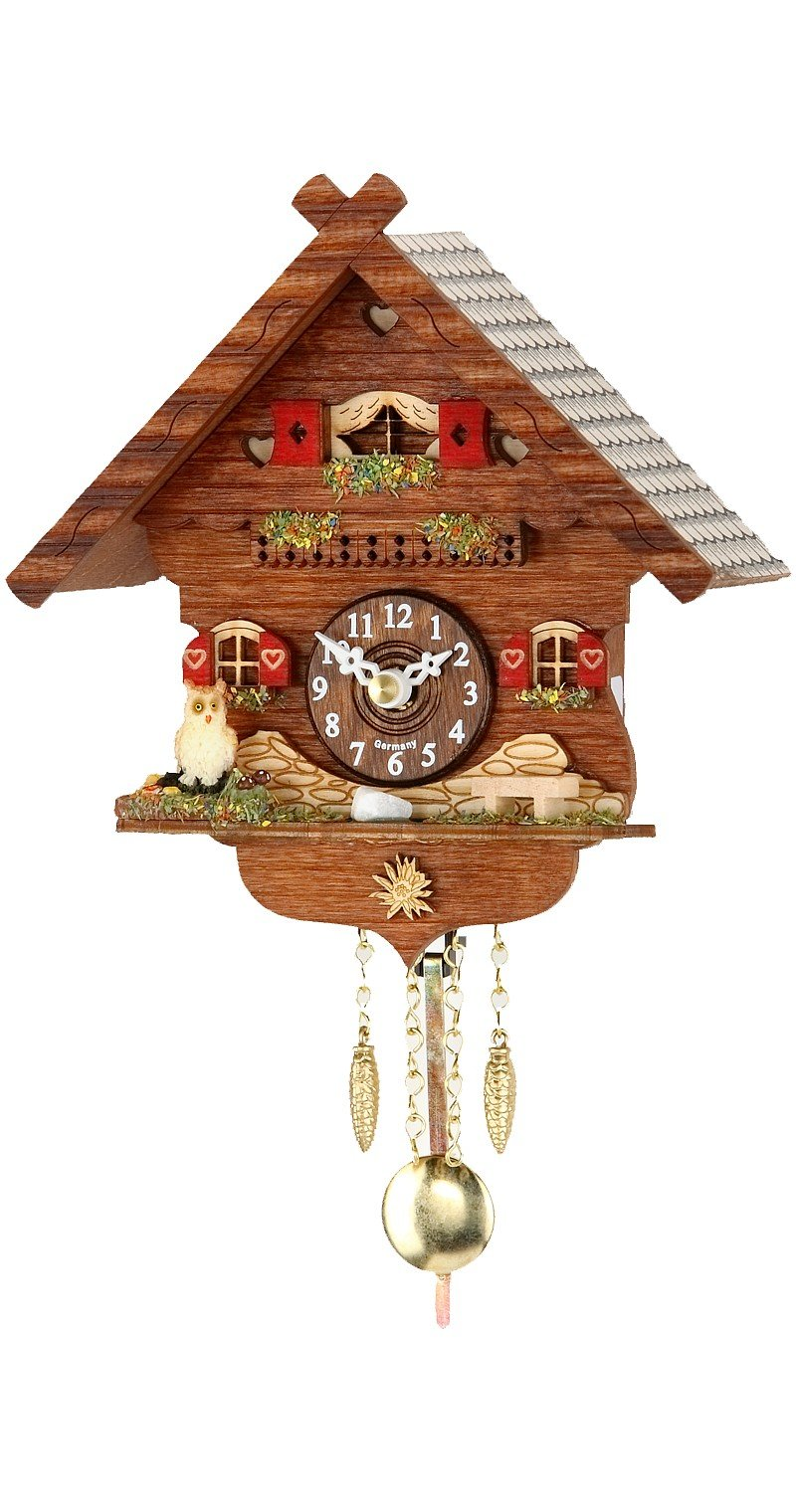 Trenkle Kuckulino Black Forest Clock with Quartz Movement and Cuckoo Chime TU 2043 PQ by Trenkle