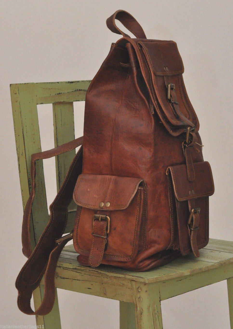 4a30aae21d VENTE 2019 - Dernier JOUR! Shakun Leather Sac à dos Vintage Cuir mixte  loisir, 100% cuir pur, avec livraison gratuite: Amazon.fr: Handmade
