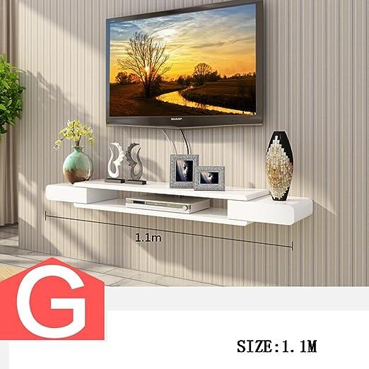 Armario de TV set - top box shelves Sala de TV pared de fondo de pared colgando Tabiques de dormitorio decoración de pared (Varios estilos disponibles) (Color : G) : Amazon.es: Hogar