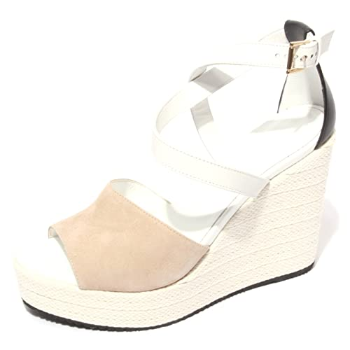 B0604 sandalo donna HOGAN scarpa zeppa corda shoes women