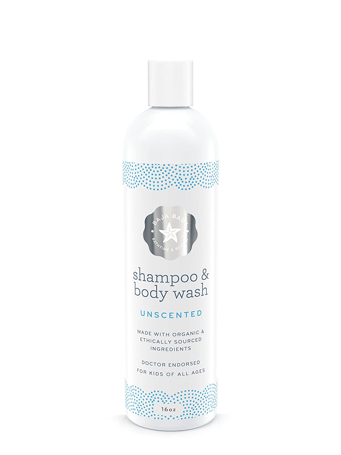 All-Natural Organic Unscented Baby Shampoo & Body Wash