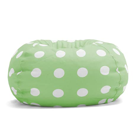 Big Joe Classic Bean Bag Chair Chartreuse Polka Dot