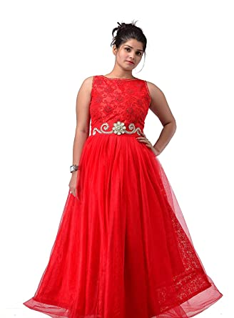 Rajrama Creations Shri Trendy Red Gown For Birthday Party