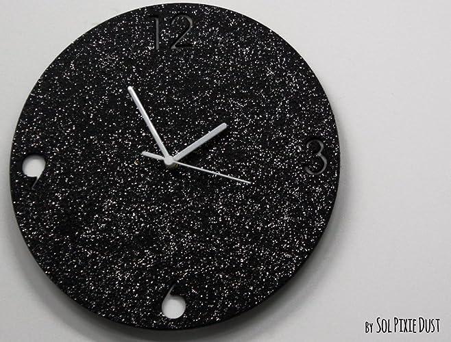 Amazon Com Shimmer Black Granite Silver Glitter Concrete