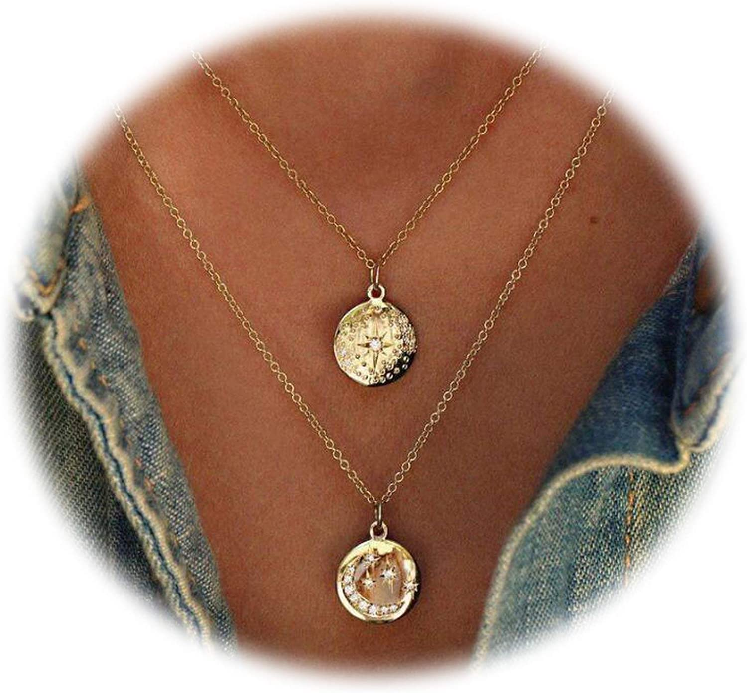 Trendy Women Gold Geometric Necklaces /& Pendants Statement Necklace with Pendant for Women Chocker Necklaces Boho Jewelry