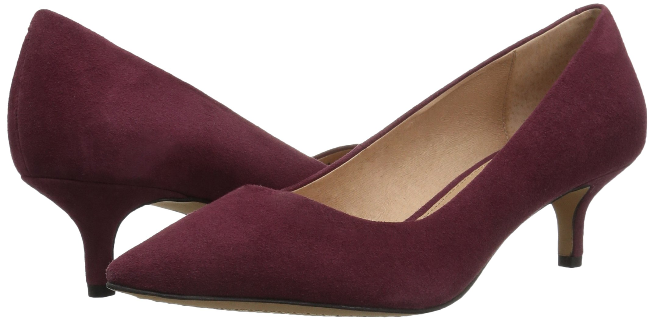 206 Collective Women's Queen Anne Kitten Heel Dress Pump, Burgundy, 8.5 B US by 206 Collective (Image #6)