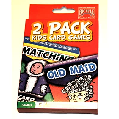 2 Pack Kids Card Games Matching & Old Maid: Toys & Games