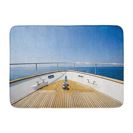 Amazon com: Soopat Bath Mat, Wide Angle Shot Front Yacht