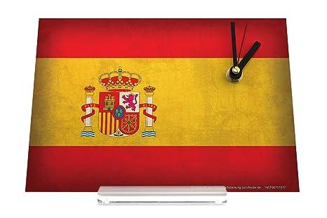 Reloj de escritorio Aventurero bandera de España Decoración Retro