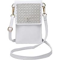 seOSTO Small Crossbody Bag, Cell Phone Purse Smartphone Wallet with 2 Shoulder Strap Handbag for Women