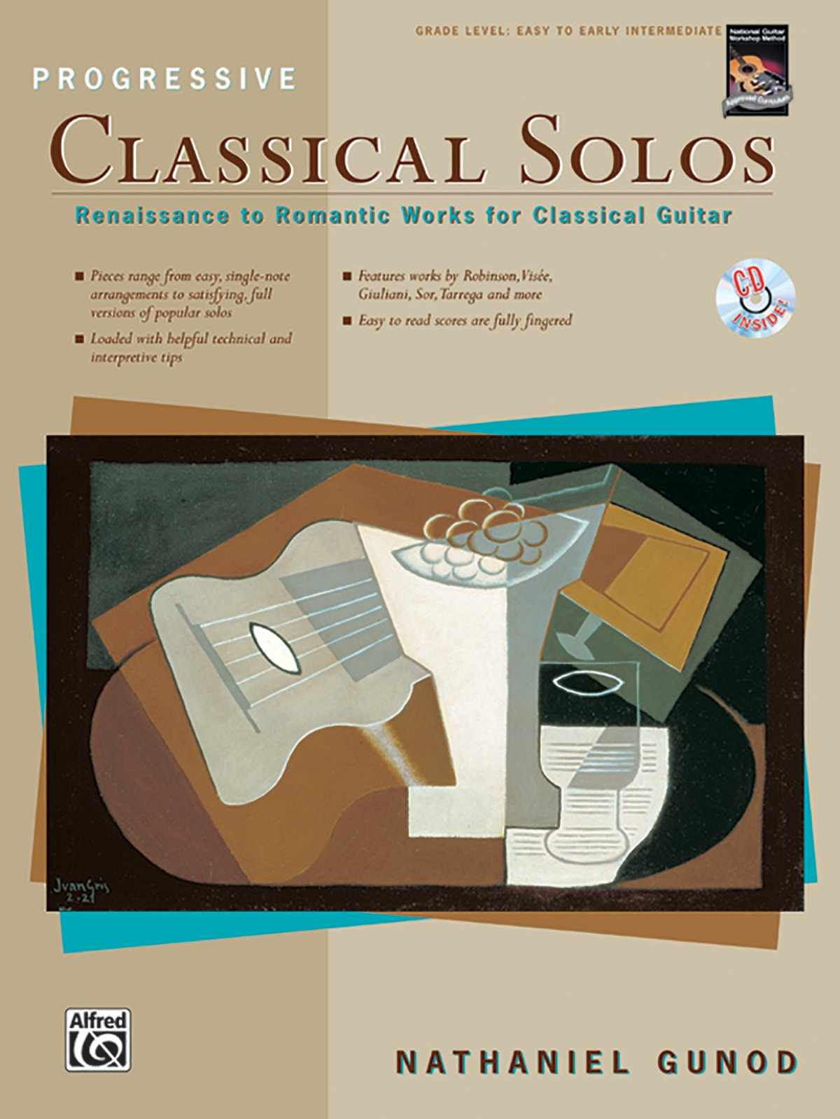 Progressive Classical Solos: Renaissance to Romantic Works for Classical Guitar, Book & CD, Gunod, Nathaniel