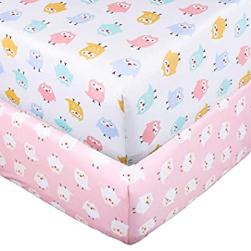 Crib Sheet 100/% Natural Cotton Flannel Arrow Fitted Toddler Bed Sheet