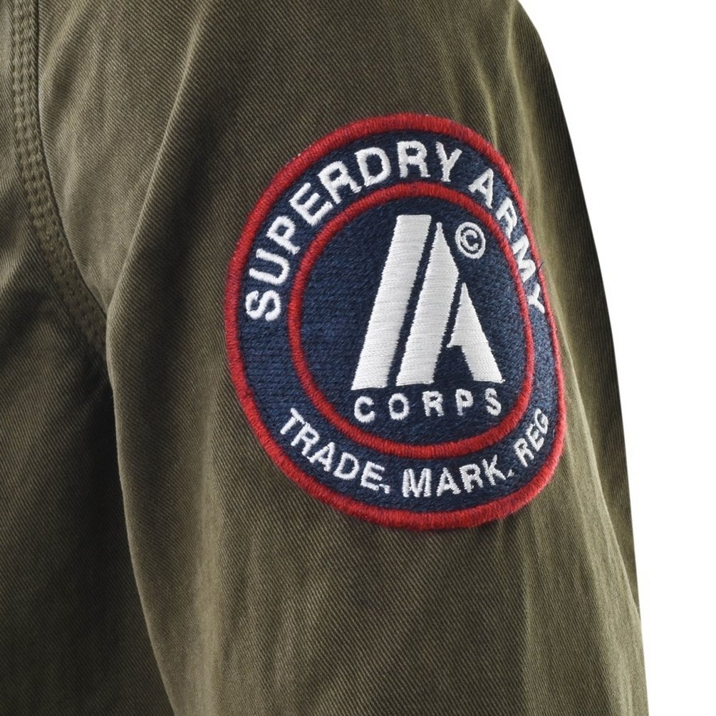 607eb444 Green Mens Superdry SD Army Corps Shirt Green - Small: Amazon.co.uk:  Clothing