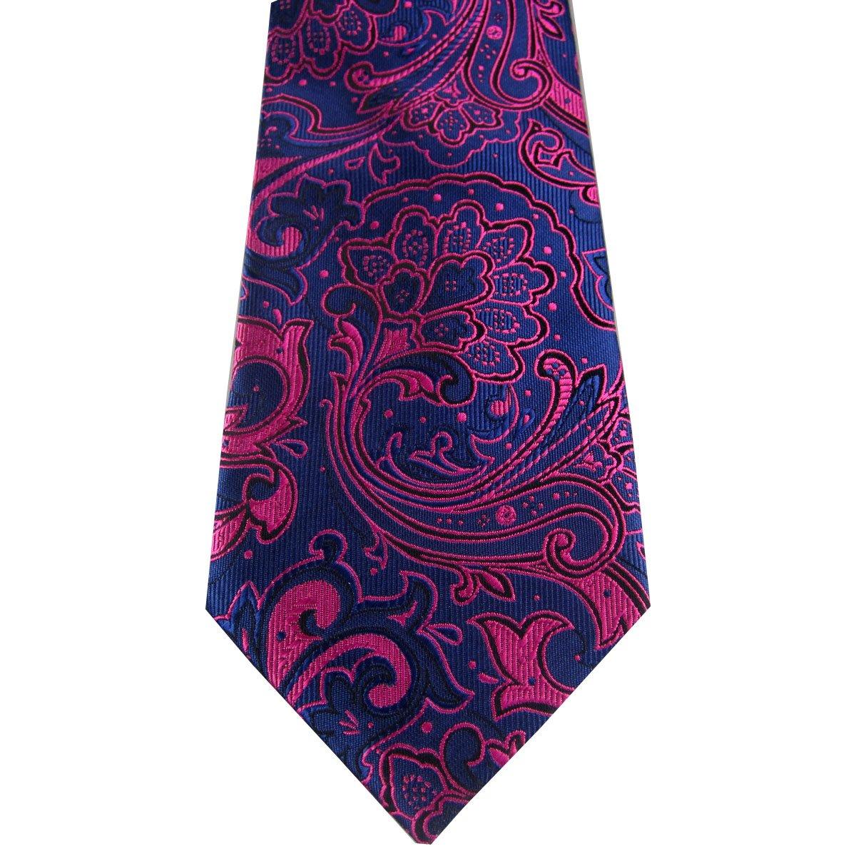 New Classic Fucsia Paisley Seda 100% hombre corbata corbata ...