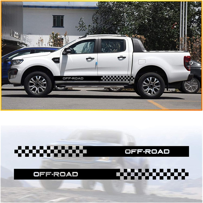 yhfhaoop Camioneta de Coche camión Rayas Laterales Faldas gráficos calcomanías Pegatinas para Nissan Navara D22 Frontier Titán hnyhf (Color Name : Black)