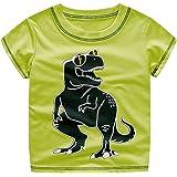 Topgrowth Maglietta Bianca Bambino Ragazzi Dinosauro Stampato Maglietta Felpa a Manica Corta Casual Top