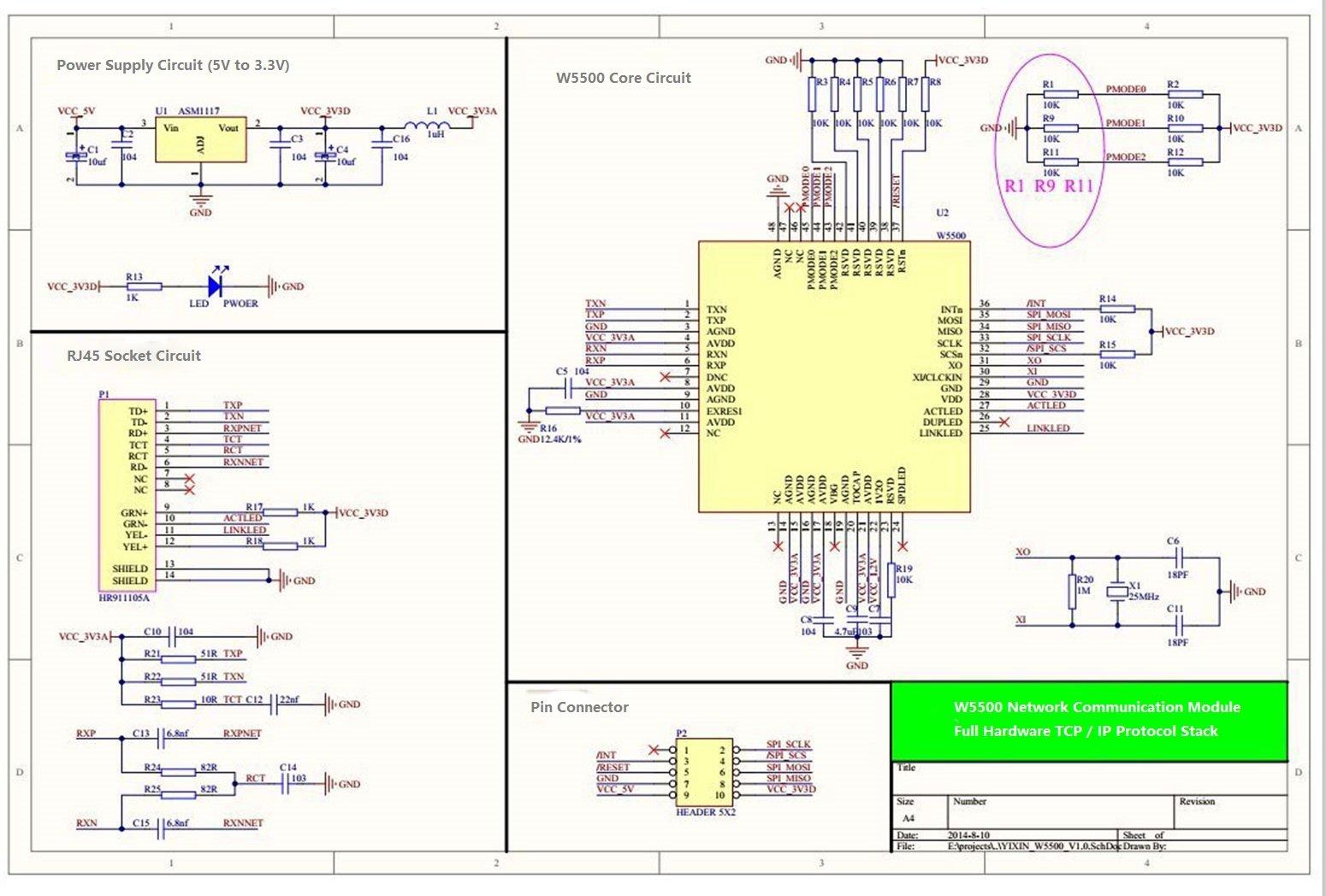 KNACRO W5500 Ethernet Network Module Hardware TCP/IP 51/STM32 Microcontroller Program over W5100 by KNACRO (Image #4)