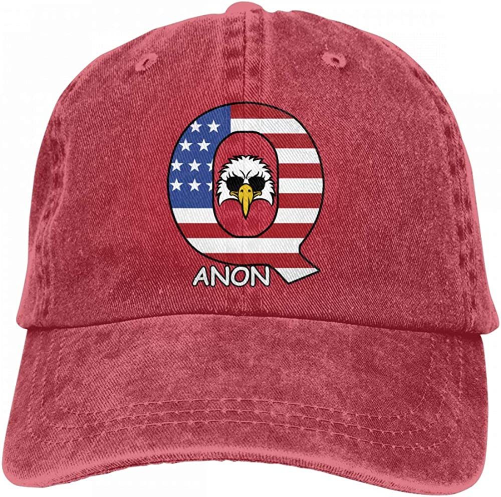 Unisex Vintage Washed Dad Hat Q Anon Eagle Popular Adjustable Baseball Cap