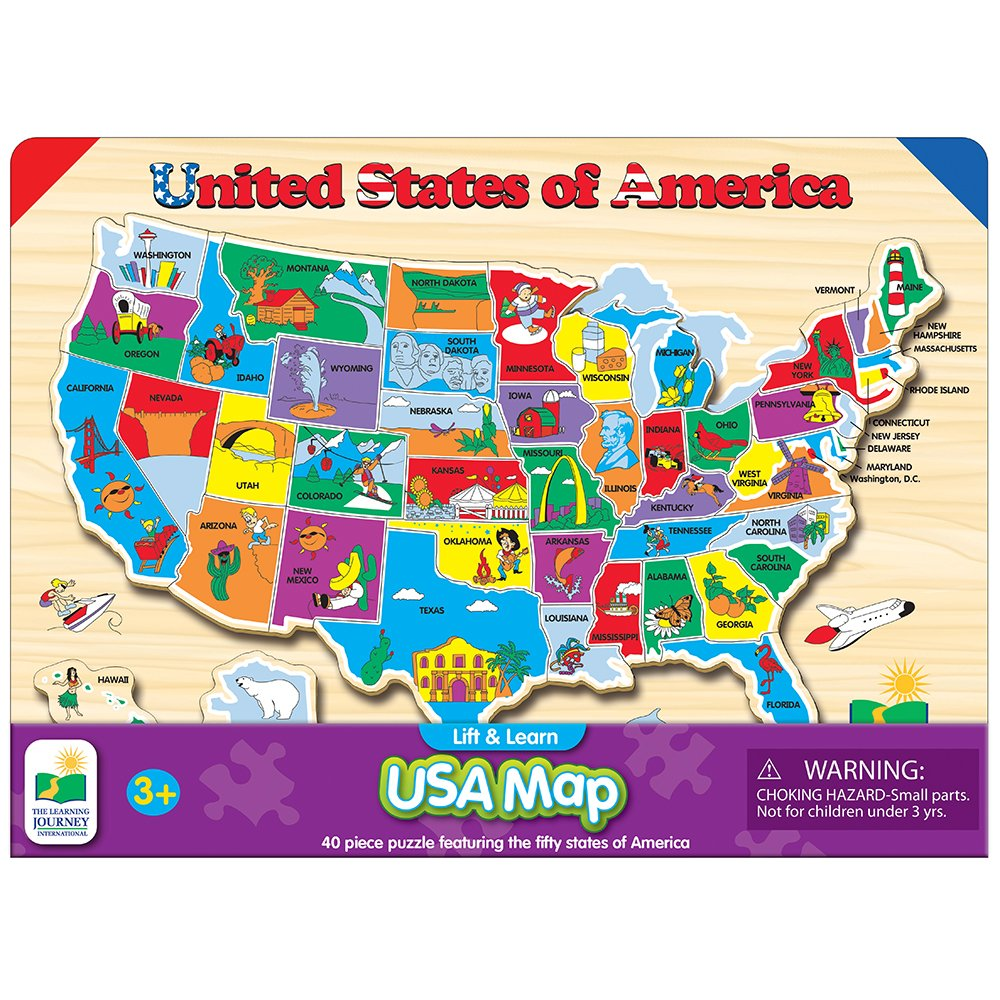 The Learning Journey USA Map P...