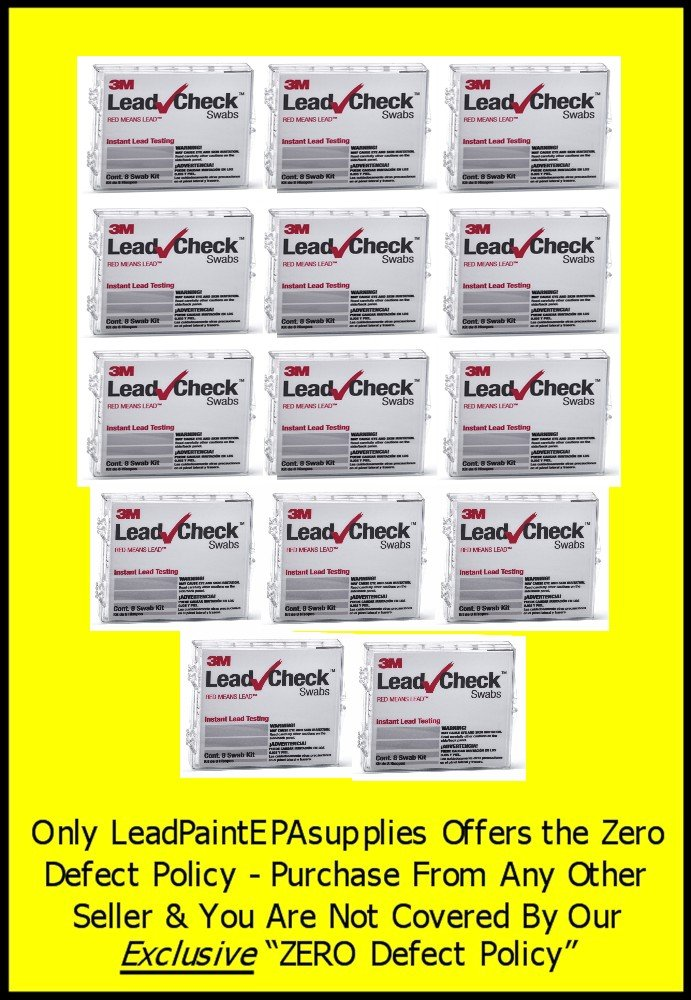 3M, 112 Swab 3M LEADCHECK Lead Tests with verification cards (14-8 packs) - Every swab is checked prior to being shipped for defects - 100% ready to use. LC-112S10C