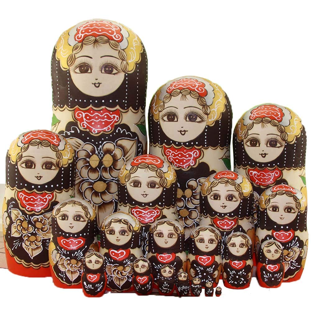 Nesting Dolls for Kids Matryoshka Dolls Blank, 20 Pieces for Kids Toy Birthday Home Decoration Parent-Child Time