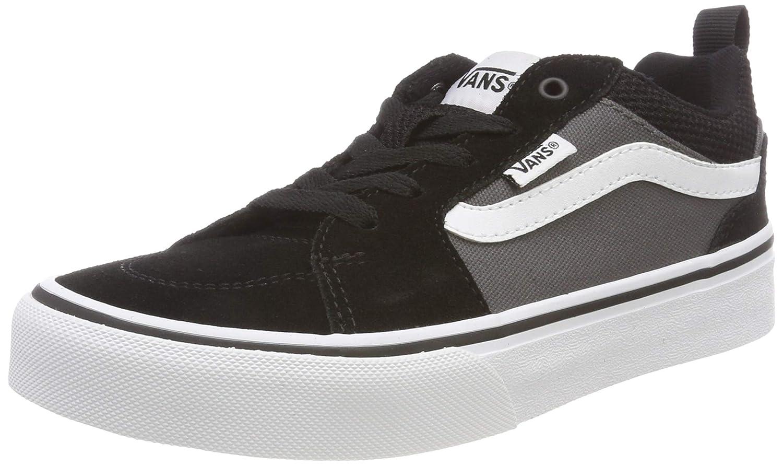 83a84eff Amazon.com | Vans Boys' Filmore Suede/Canvas Low-Top Sneakers, Black ...