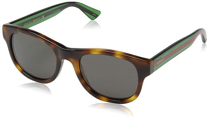 Gucci gafas de sol GG0003S AVANA-GREEN-GREY, 52: Amazon.es ...