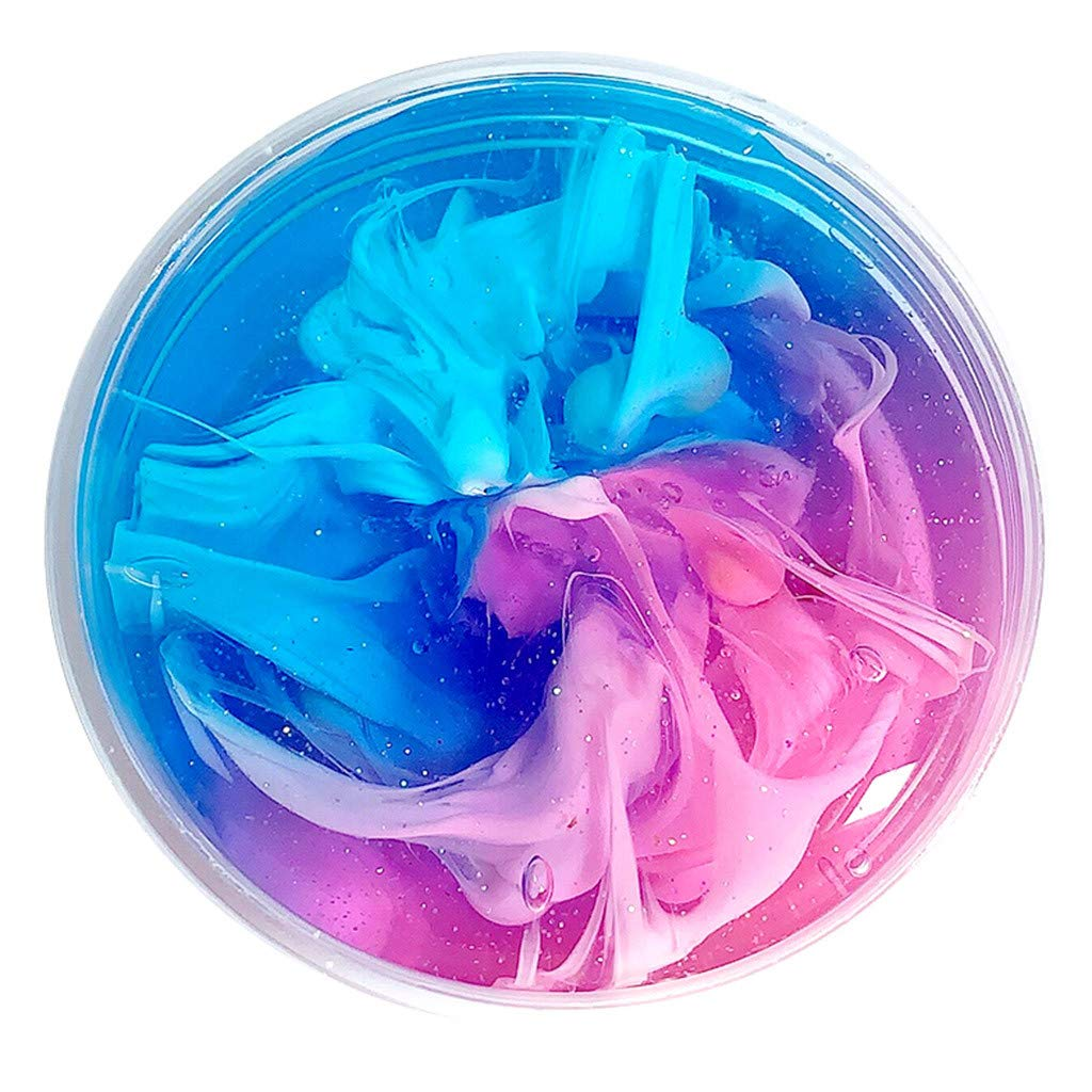 Gbell  Rainbow Fluffy Cloud Slime Toys for Kids - Fun Crunchy Slime Scented Therapeutic Putty Cotton Candy Slime Supplies Stress Relief Sludge Slime Toy for Boys Girls Adults,2 Oz (E)