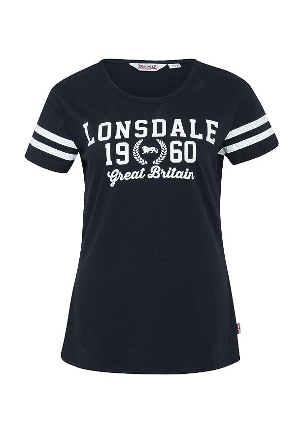Lonsdale Damen T Shirt Wakefield, Größe:L, Farbe:black