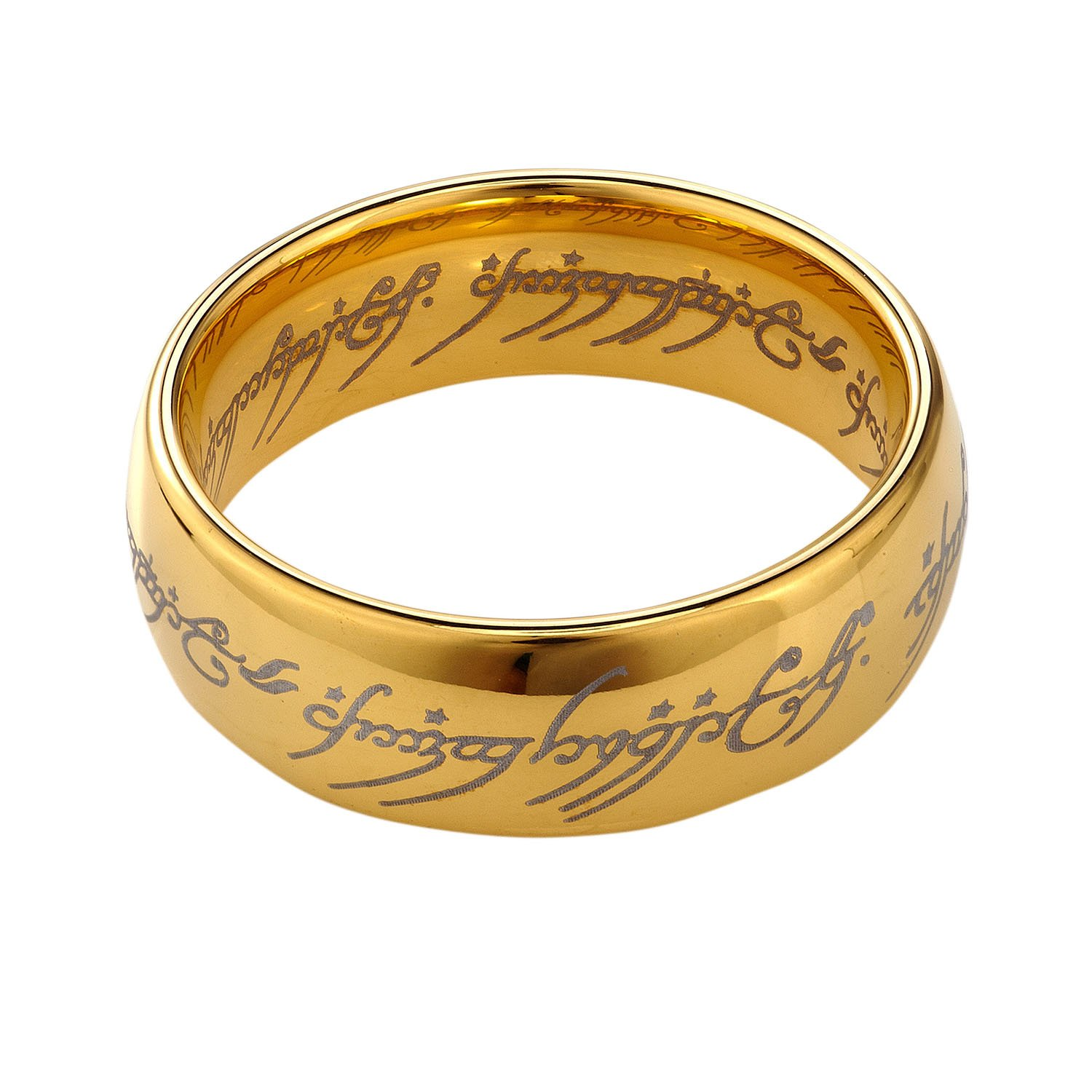 TUSEN JEWELRY Lord of the Rings Gold Color Tungsten Ring|Amazon.com