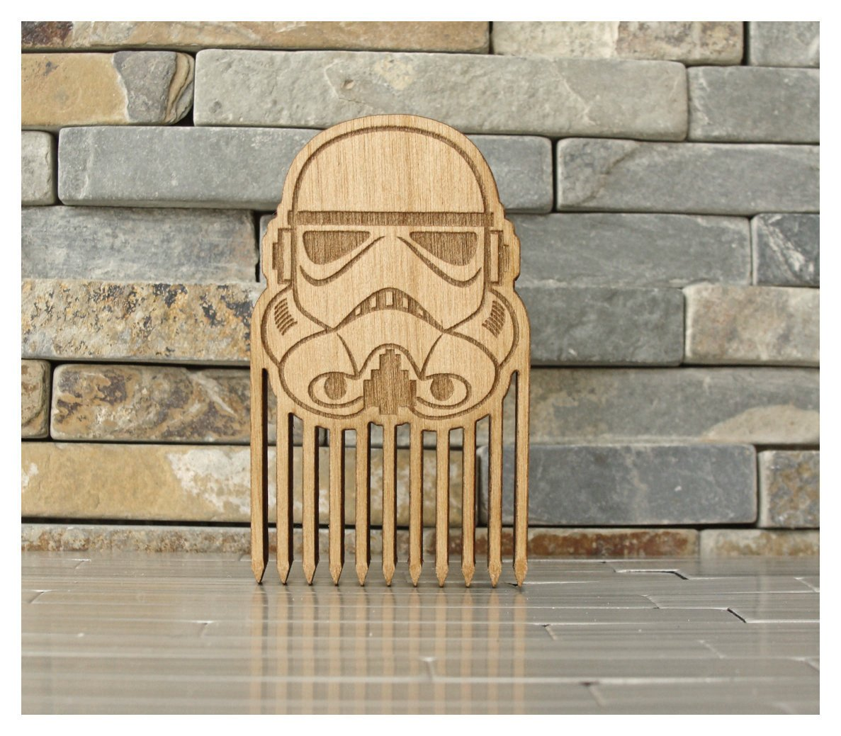 Stormtrooper Wood Beard Comb