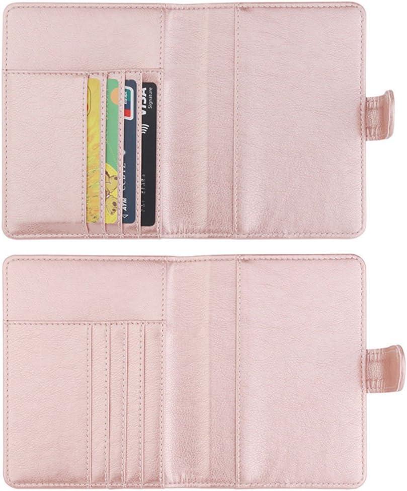 Brown Unisex Fashion Faux Leather Passport Card Ticket Holder Travel Storage Bag