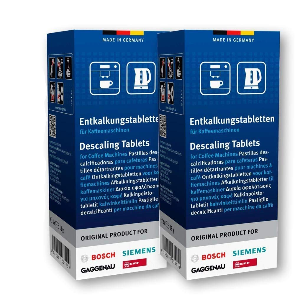 12 Descaler Tablets For Coffee Makers By Bosch And Siemens