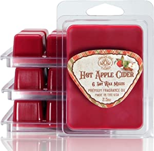 Way Out West Candles - Scented Wax Melts - Highly Fragrant Air Freshener - 4 Pack Set of 6 Melt Cubes (4, Hot Apple Cider)