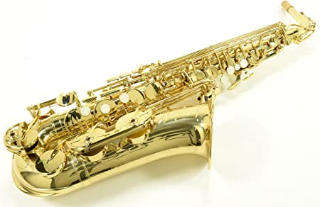 side facing yamaha yas-480 intermediate saxophone
