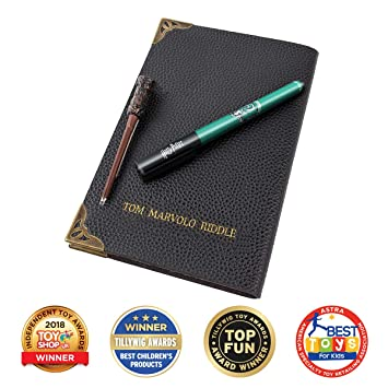Wow! Stuff Collection Harry Potter Tom Riddle - Cuaderno de Agenda (Incluye lápiz para Pantalla táctil y Varita UV)