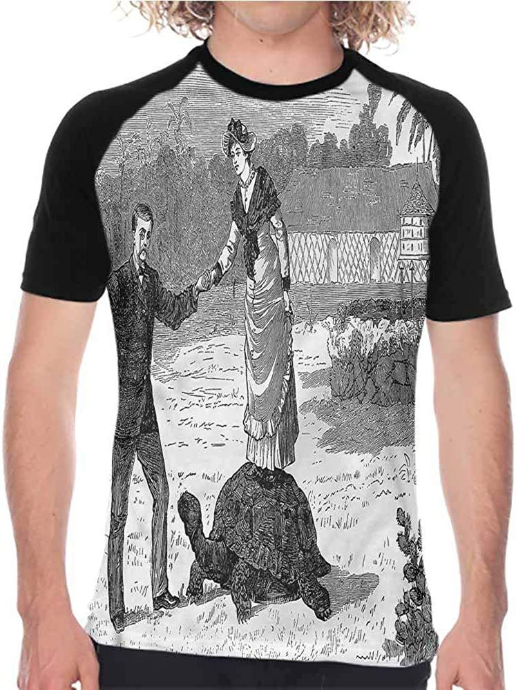 Vintage,Baseball Short Sleeve Vivid Oriental East,T-Shirt of Various Styles for Men