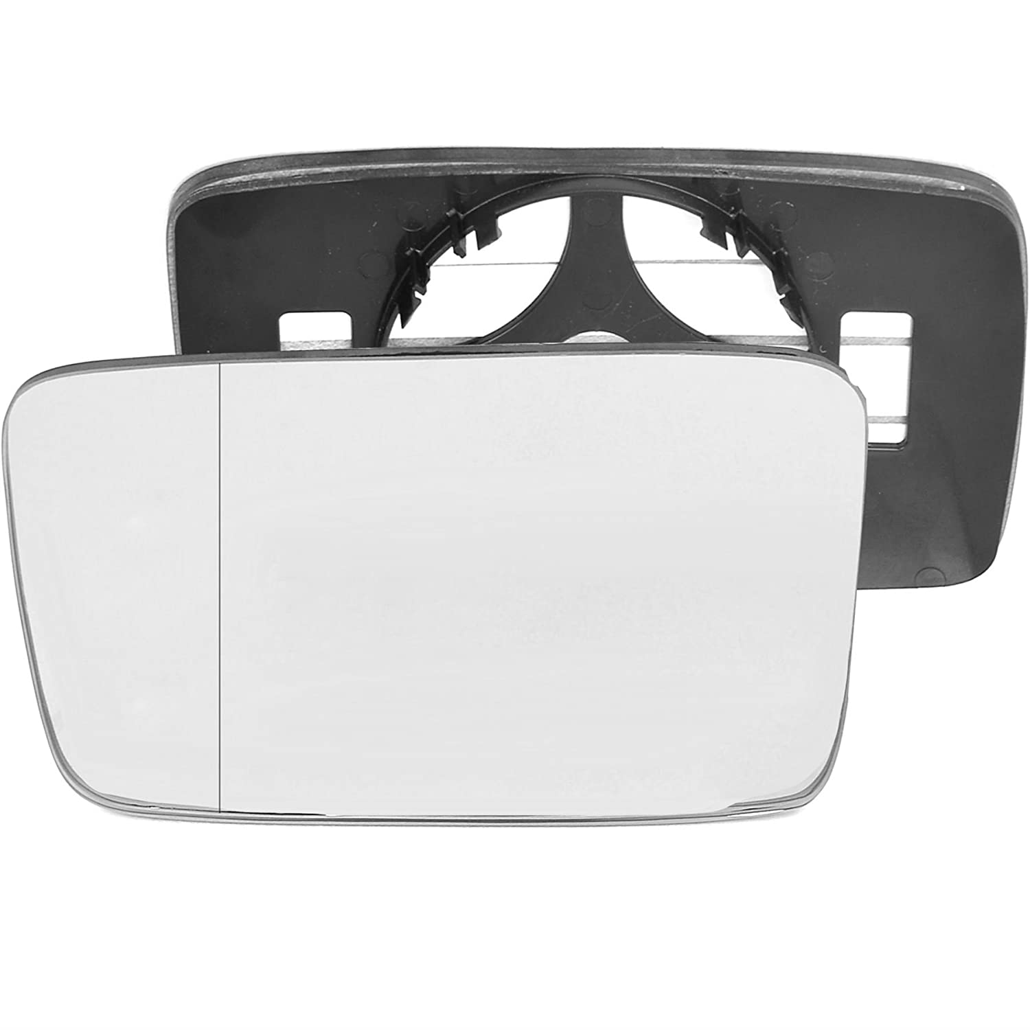 Passenger left hand side wing door Silver mirror glass with backing plate #W-SN/L-VNGF91 [Clip On] Sylgab