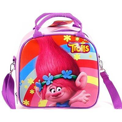 Trolls DreamWorks Poppy Lunch Bag Plus Water Bottle- Pink: Sports & Outdoors