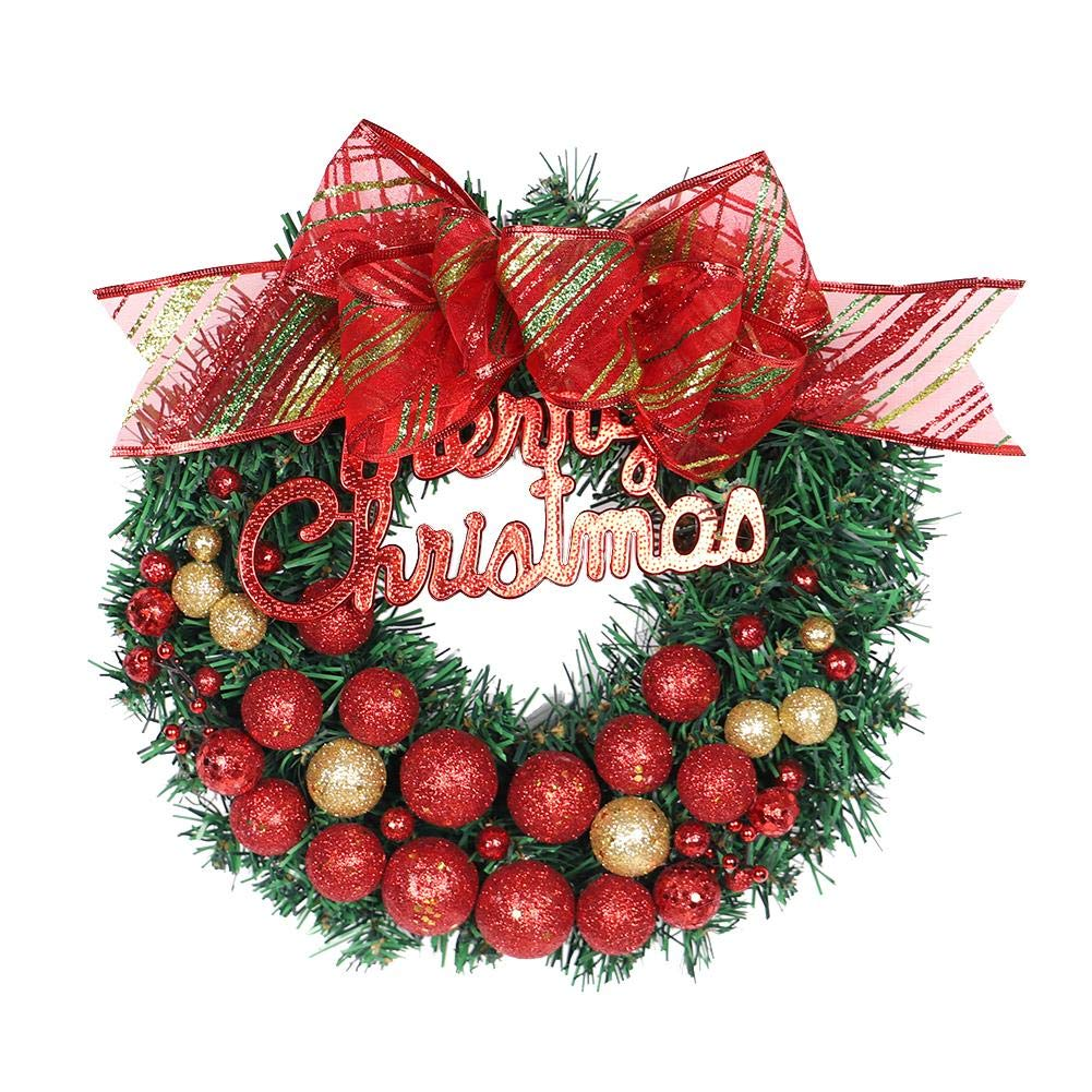 12'' Red Gradient Christmas Wreath Christmas Tree Decoration Suitable for Home Window Shopping Mall Hotel Decoration PendantWreath Holiday Supplies