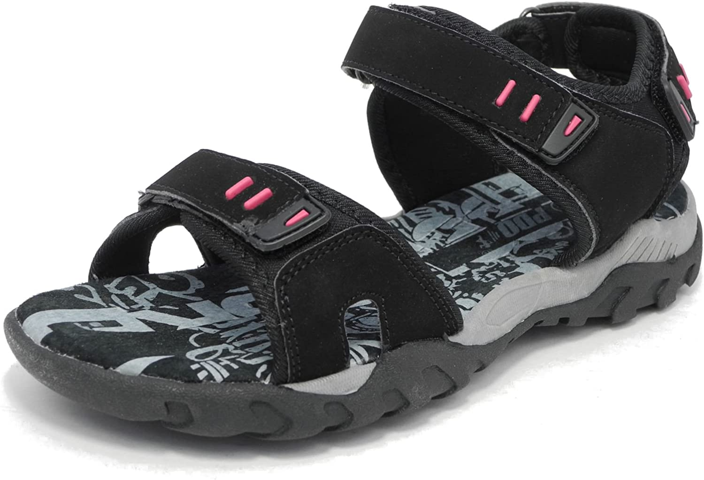 Sandalias PDQ para mujer, estilo deportivo, con triple Velcro, acolchadas, para senderismo, tallas 3–8